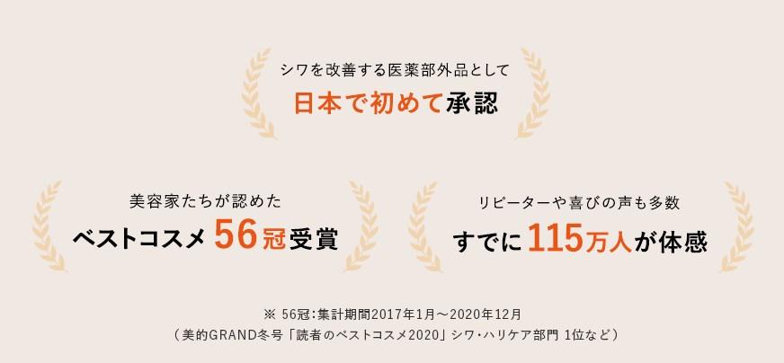 リンクルショット メディカル セラム,受賞