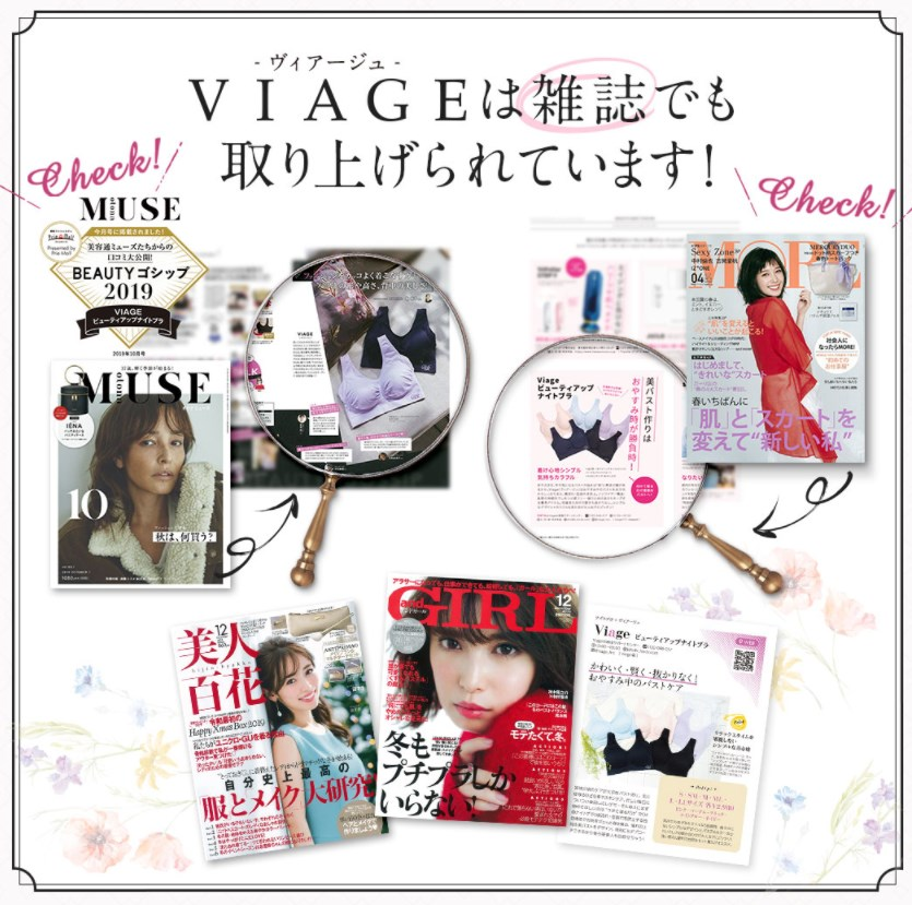 Viageビューティアップナイトブラ,メディア,紹介