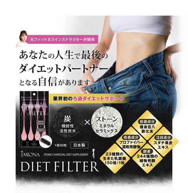 ダイエットフィルター,効果